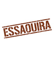 Essaouira brown square stamp vector image vector image