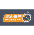 fast shipping delivery icon vector image vector image