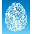Floral egg vector image vector image