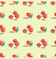 goji berries guarana seamless pattern background vector image