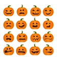 Halloweens pumpkin icons set vector image vector image