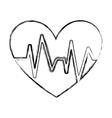 heart with pulse symbol vector image vector image