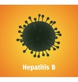 hepatitis b virus single isolated with text vector image vector image