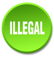 illegal green round flat isolated push button vector image vector image