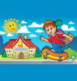 image with school boy theme 2 vector image vector image