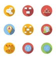Internet icons set flat style vector image vector image