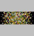 islamic pattern arabesque flowers border vector image