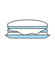isolated sandwich design vector image