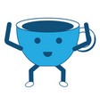 kawaii coffee mug icon vector image vector image