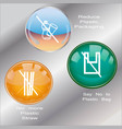 less plastic usage campaign signs and buttons vector image vector image
