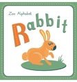 Letter R - Rabbit vector image