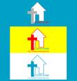 Logo christian vector image vector image