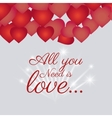 Love card design with red details vector image vector image