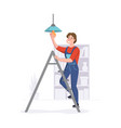 man provides repair services in homes or offices vector image vector image