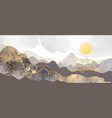 moutains hills sun abstract background vector image