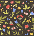 natural seamless pattern with wild blooming plants vector image vector image