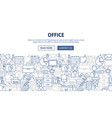 office banner design vector image vector image