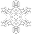 outlines of snowflake in mono line style for vector image