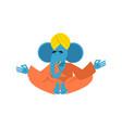sacred elephant in india ganesha hindu god of vector image