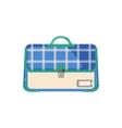 Schoolbag icon in flat style vector image vector image