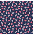 Seamless pattern with cute cartoon rabbit vector image