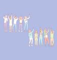 set men and women dancers vector image vector image