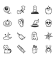 Set of halloween icons eps10 format vector image vector image