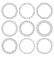set of round elegant frames in art deco style vector image vector image