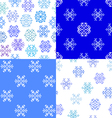 Set of seamless textures snowflakes vector image vector image