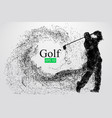 silhouette of a golf player vector image vector image