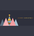 simple holiday christmas card 2 vector image vector image