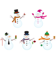 Snowman Set vector image