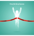 Successful man figure from triangular particles vector image vector image