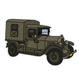 the vintage military truck vector image vector image