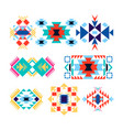 tribal geometric logo set american indian-ornate vector image vector image
