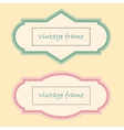 Two Vintage Frames vector image vector image