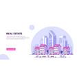 urban landscape flat style banner de vector image vector image
