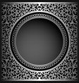 vintage black background with swirly ornament vector image vector image