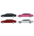 white black red pink limousines isolated on vector image vector image