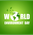 world environment day card with light background vector image