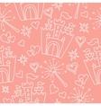 Hand drawn seamless princess pattern vector image
