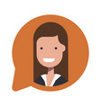 avatar businesswoman or manager social icon in vector image