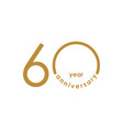 60 year anniversary template design vector image
