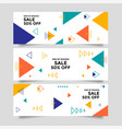 abstract banner background with geometric shapes vector image vector image