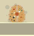abstract brain symbol label design vector image