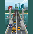 aerial view of vehicle traffic vector image