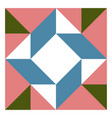 barn quilt pattern patchwork design abstract vector image vector image