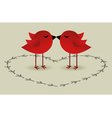birds love card vector image vector image