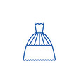 bridal evening dress line icon concept bridal vector image vector image