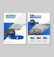 car dealership brochure automobile showroom vector image